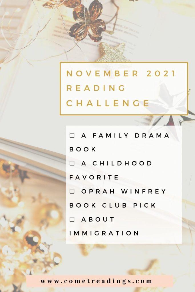 November 2021 Reading Challenges
